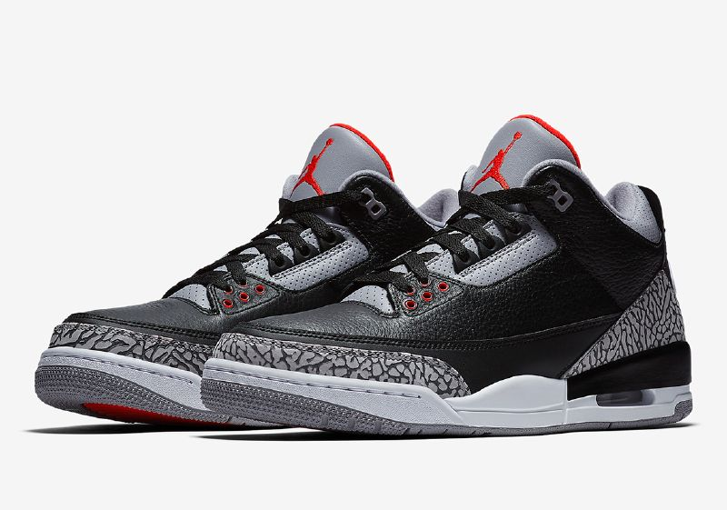 "Official Images Of The Air Jordan 3 ""Black/Cement"" ..."